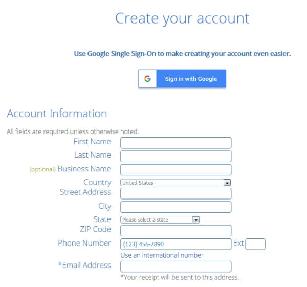 bluehost account billing